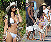 Kim Kardashian Bikini Photos With Shirtless Reggie Bush in Costa Rica