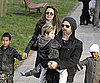 Slide Photo of Angelina Jolie and Brad Pitt With Maddox, Shiloh, and Zahara