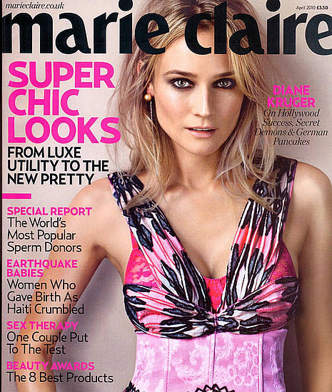 Diane Kruger does Marie Claire UK-april 2010