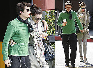 Photos of Orlando Bloom and Miranda Kerr Holding Hands and Drinking Coffee in Los Angeles