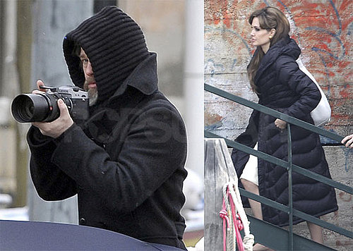 Photos of Brad Pitt Taking Photos in Venice and Angelina Jolie Filming The Tourist