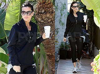 Photos of Sandra Bullock Working Out and Picking up Jesse's Girls From School