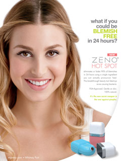 Whitney Port Is Zeno Hot Spot's New Spokesperson