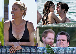 Photos of Julie Bowen, Ty Burrell, Jesse Tyler Ferguson, And Eric Stonestreet Filming Modern Family in Hawaii