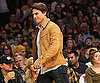 Slide Photo of Tom Cruise and Leonardo DiCaprio at Lakers Game