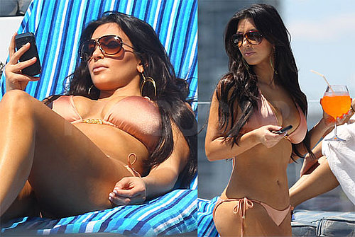 Photos of Kim Kardashian in a Bikini on a Boat in Miami