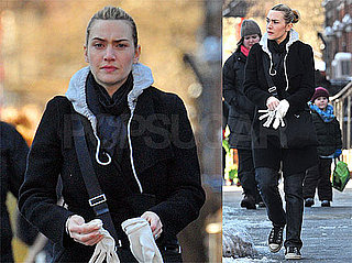 Photos of Kate Winslet in Snowy New York City