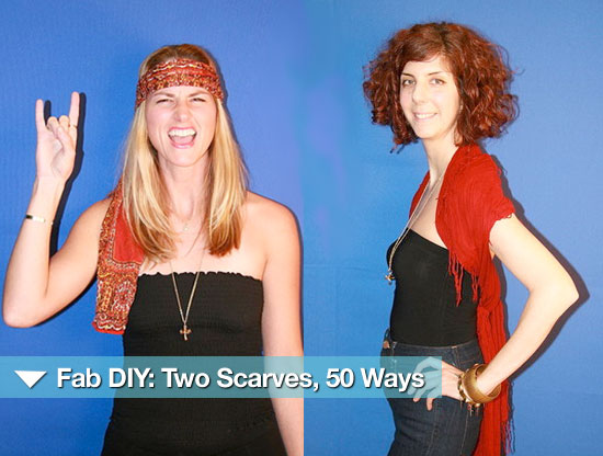 Fab DIY: Two Scarves, 50 Ways