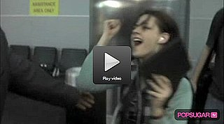 Video: Kristen Stewart Laughs as Men Fall For Her at JFK