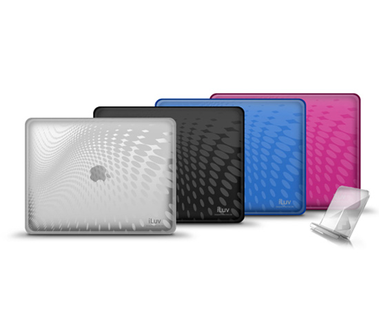 iCC802 Flexi-Clear Case With Dot Wave Pattern ($30)