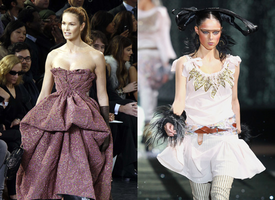 Famous Models on the Catwalk at Paris Fashion Week Autumn 2010