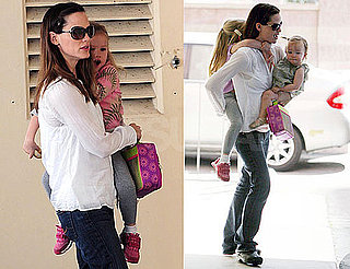 Photos of Jennifer Garner Carrying Both Daughters Violet Affleck and Seraphina Affleck in LA