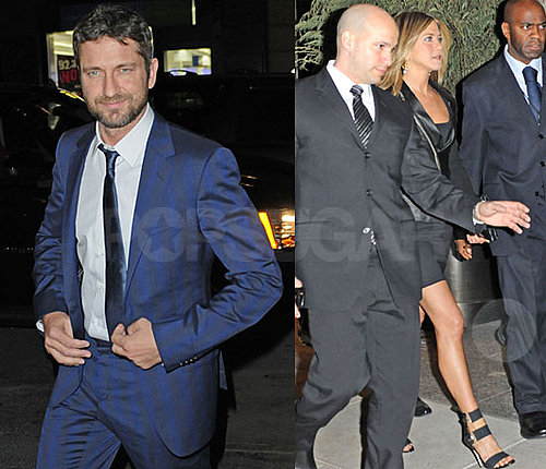 Photos of Jennifer Aniston and Gerard Butler Going From the NYC Premiere of The Bounty Hunter to the Afterparty