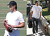 Photos of Tom Brady Playing Football in LA
