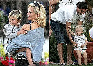 Photos of Gwen Stefani, Gavin Rossdale, Kingston Rossdale, And Zuma Rossdale Together in Palm Springs