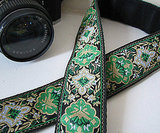 Embroidered Camera Strap ($35)