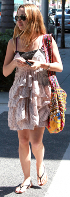 Jennifer Meyer Wears Isabel Marant Ruffle Dress
