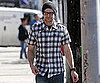 Slide Photo of Justin Timberlake Running Errands in a Plaid Shirt and Jeans in LA