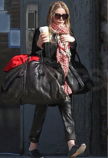 Photos of Mary-Kate Olsen Leaving Her NYC Apartment in Tons of Layers