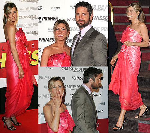 Photos of Jennifer Aniston And Gerard Butler Eating Dinner on a Boat And Premiering The Bounty Hunter in Paris 2010-03-28 18:00:55