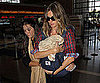 Slide Photo of Gisele Bundchen and Benjamin at the Airport in LA