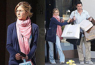 Photos of Jennifer Aniston and Adam Sandler on the Set of Just Go With It in Los Angeles
