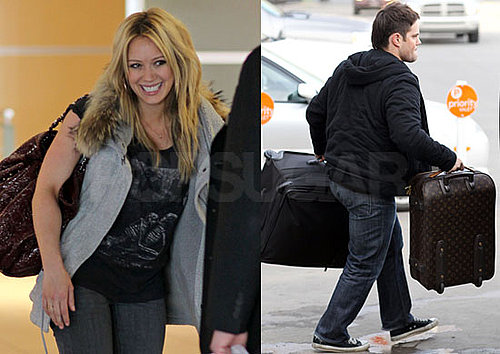 Photos of Mike Comrie Picking up Hilary Duff at The Edmonton Airport in Canada