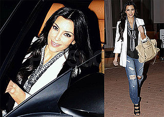 Photos of Kim Kardashian Driving a Masarati in Miami Wearing White
