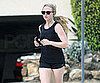 Slide Photo of Amanda Seyfried Jogging in LA