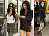 Photos of Kim Kardashian Wearing a Floral Jumper with Kourtney Kardashian in Miami