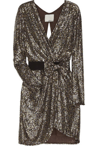 3.1 Phillip Lim | Sequined silk wrap dress | NET-A-PORTER.COM $975