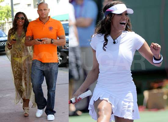 Photos of Mel B in Bikini and Playing Tennis at Sony Ericsson Open in Miami Against Jay Sean