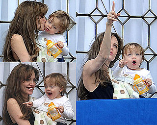 Photos of Angelina Jolie With Knox on Their Venice Balcony