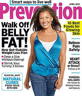 Vanessa Williams Shares Diet Tips in Prevention Magazine April 2010