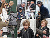 Photos of Brad Pitt and Angelina Jolie With Shiloh and Pax in Venice on Oscar Sunday