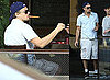 Photos of Leonardo DiCaprio Smoking Cigars And Playing Chess in LA