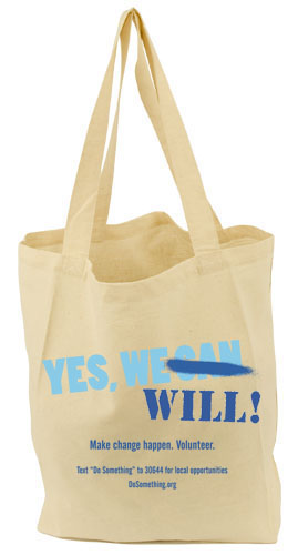 DoSomething.org 'Yes, We Will!' Tote, approx $10.91 from Eco Bags