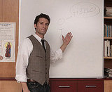 Mr. Schue puts his artistic skills to work.