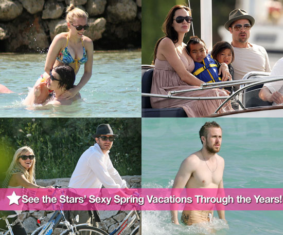 See the Stars' Sexy Spring Vacations Through the Years!