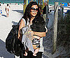 Slide Photo of Kourtney Kardashian and Baby Mason at the Beach in Miami