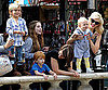 Slide Photo of Gwen Stefani, Kingston and Zuma at the Grove