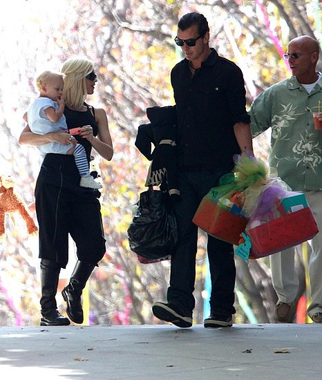 Gwen Stefani and family  attending a party at Ron Meyer's House for Easter Sunday in Malibu, CA