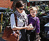 Slide Photo of Jessica Alba and Honor Eating Lunch in LA