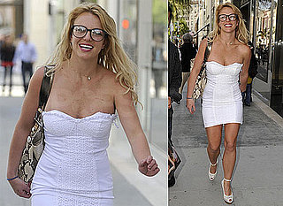 Photos of Britney Spears in a Tiny White Dress