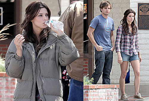 Photos of Ashley Greene on the Set of The Apparition Wearing Short Shorts