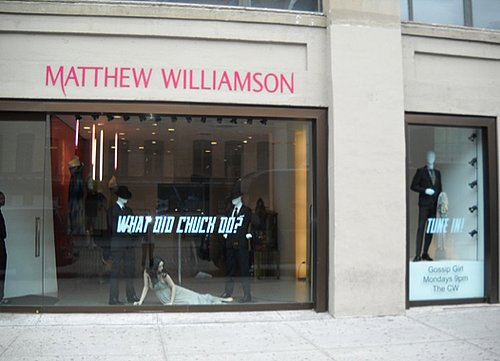 Gossip Girl Inspired Window Display at Matthew Williamson in New York