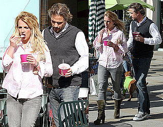 Photos of Britney Spears and Jason Trawick Getting Frozen Yogurt at Menchie's in Calabasas