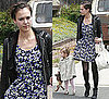 Jessica Alba Wearing Blue Floral Madewell Dress on Easter Sunday