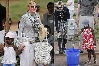 Photos of Madonna, Mercy James, and Lourdes Leon in Malawi to Open the Raising Malawi School For Girls