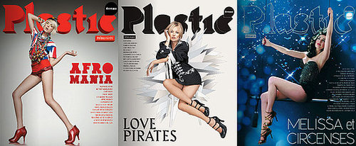 Kate Moss, Agyness Deyn and Dita Von Teese on Plastic Dreams Magazine Covers